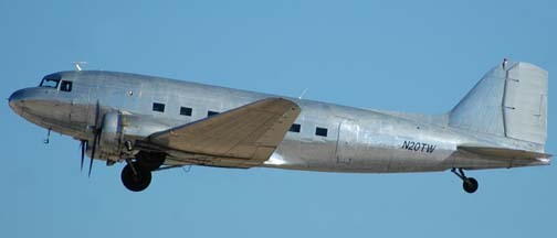 Douglas DC-3-G202A, N20TW, Edwards Air Froce Base, August 19, 2005