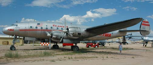 C-69, N90831 in TWA Colors at the Pima Air Museum on September 26, 2005