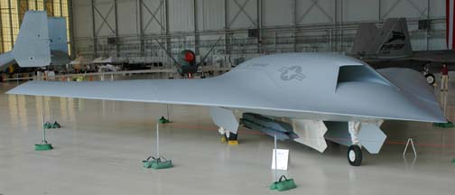 Full-scale mockup of the Boeing X-45C