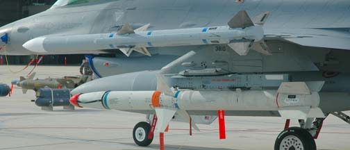 AIM-120 Advanced Medium-Range Air-to-Air Missile and AGM-84 Harpoon anti-shpping missile