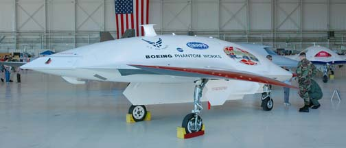 Boeing X-45A Unmanned Combat Air Vehicle (UCAV).