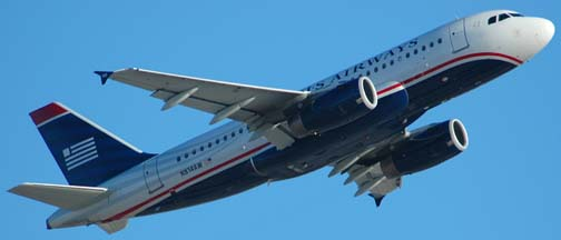 US Airways Airbus A319-132 N814AW at Sky Harbor on April 13, 2006
