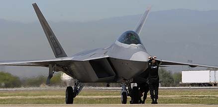 Lockheed-Martin F-22A Raptor 05-4084 of the 1st Fighter Wing