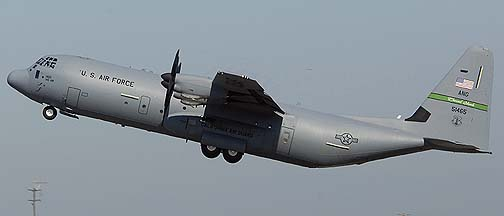 Channel Islands ANG Lockheed-Martin C-130J-30 Hercules 05-1465 of the 115th Airlift Squadron of the 146th Airlift Wing