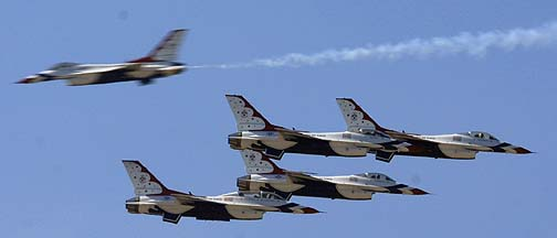 Thunderbirds General Dynamics F-16C Fighting Falcons