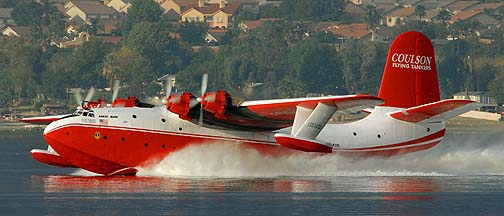 Coulson Flying Tankers Martin JRM C-FLYL Hawaii Mars at Lake Elsinore, October 27, 2007
