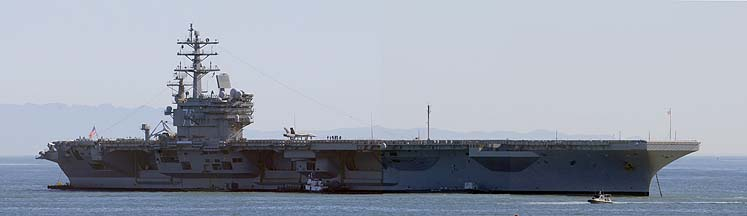 USS Ronald Reagan CVN-76 at Santa Barbara, January 13, 2008