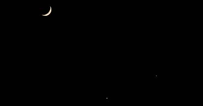 Conjunction of Venus, Jupiter and the Moon, December 1, 2008