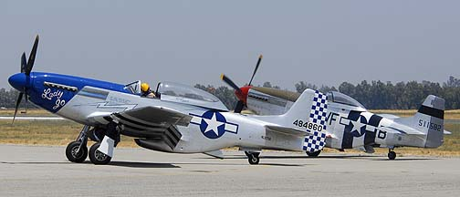 North American P-51D Mustang NL327DB Lady Jo and NL5441V Spam Can