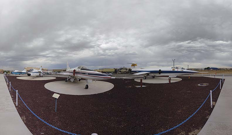 Display airplanes at the NASA Dryden Flight Research Center