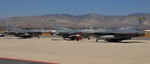 General Dynamics F-16C Block 25 Fighting Falcons 85-1403, 84-1381, and 84-1384