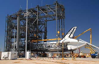 Space Shuttle Discovery at Edwards AFB, September 17, 2009