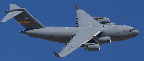 Boeing-McDonnell-Douglas C-17A Globemaster 3 95-5141 of the 452nd Air Mobility Wing