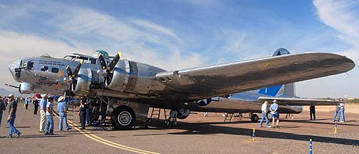 Boeing B-17G Flying Fortress N9323Z Sentimental Journey, Copperstate Fly-in, October 23, 2010