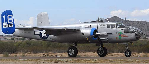 North American B-25J Mitchell Maid in the Shade N125AZ, Copperstate Fly-in, October 23, 2010