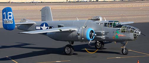North American B-25J Mitchell Maid in the Shade N125AZ, Deer Valley, November 14, 2010