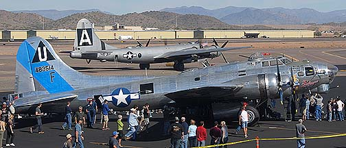 Boeing B-17G Flying Fortress Sentimental Journey N9323Z and Boeing B-29 Superfortress Fifi N529B, Deer Valley, November 14, 2010
