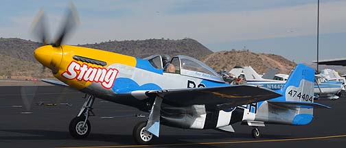 North American P-51D Mustang Stang NL151RJ, Deer Valley, November 14, 2010