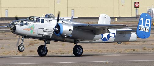 North American B-25J Mitchell Maid in the Shade N125AZD, eer Valley, November 14, 2010