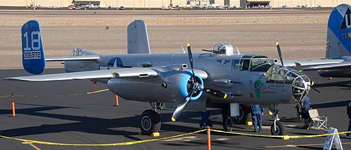 North American B-25J Mitchell Maid in the Shade N125AZD, eer Valley, November 15, 2010