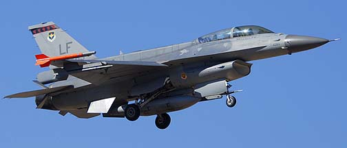 Singapore Air Force F-16D Block 50 94-0283 of the 425 Fighter Squadron Black Widows