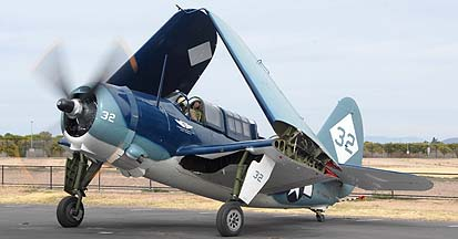Curtiss SB2C Helldiver Visits California