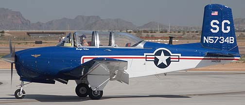 Commemorative Air Force Beech D-45 N5734B, Phoenix-Mesa Gateway Airport Aviation Day, March 12, 2011