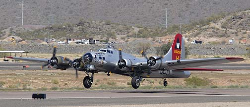 Boeing B-17G Flying Fortress N5017N Aluminum Overcast, Deer Valley, March 31, 2011