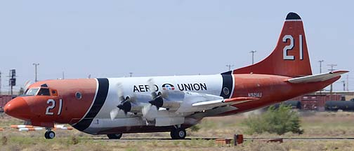 Aero Union Lockheed P-3A-45 Orion N921AU Tanker 21 and Minden Air SP-2H Neptune N4692A Tanker 48