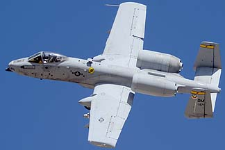 Fairchild-Republic A-10A Thunderbolt II (Warthog) 78-0671 of the 357th Fighter Squadron Dragons, February 2, 2012