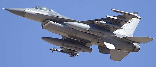 General Dynamics F-16C Block 42J Fighting Falcon (Viper) 90-0752 of the 310th Fighter Squadron Top Hats, February 2, 2012