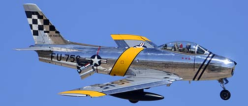 North American F-86E Sabre NX1F Hell er Bust, Davis-Monthan Air Force Base, March 4, 2012