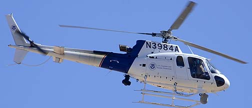 Homeland Security Eurocopter AS350B3 N3984A, Davis-Monthan Air Force Base, March 4, 2012