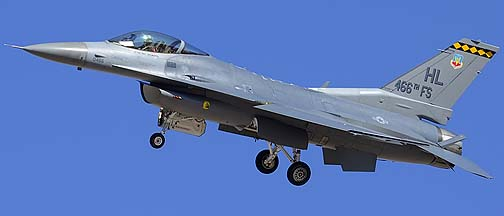 General Dynamics F-16C Block 40C Viper 88-0466 of the 466th Fighter Squadron, Davis-Monthan Air Force Base, March 4, 2012
