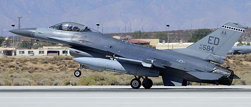 General Dynamics F-16A Block 15A Fighting Falcon 80-0584 of the 412th Test Wing, Edwards Air Force Base, September 20, 2012
