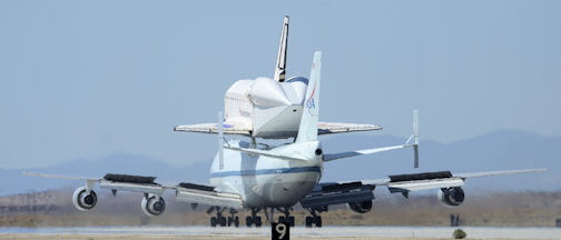 Space Shuttle Endeavour at Edwards AFB, September 20, 2012