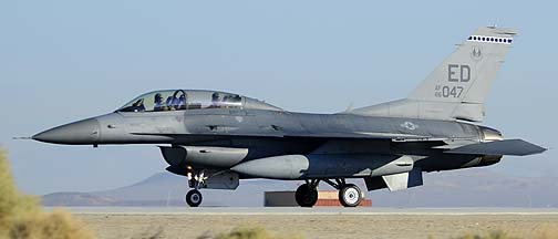 General Dynamics F-16D Block 30D Fighting Falcon 86-0047 of the 412th Test Wing, Edwards Air Force Base, September 21, 2012
