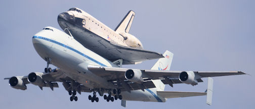 Space Shuttle Endeavour at Los Angeles International Airport, September 21, 2012