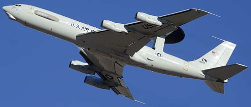 Boeing E-3B Sentry 75-0560 of the 552nd Air Combat Wing, MCAS Yuma, October 24, 2012