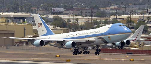 Boeing VC-25A 92-9000, Phoenix Sky Hrbor Airport, August 6, 2013