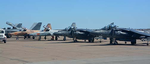 Hornets, Tiger IIs, and Harriers, Mesa Gateway Airport, March 7, 2014