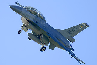 Taiwanese Air Force General Dynamics F-16B Block 20 Fighting Falcon 93-0825, March 10, 2014