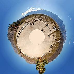 Little planet view of the Palm Spring Camp panorama, November 19, 2014
