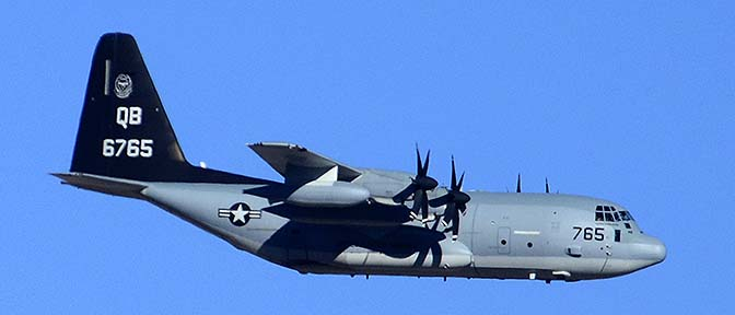 Lockheed-Martin KC-130J Hercules BuNo 166765 of VMGR-352 Raiders based at MCAS Miramar.