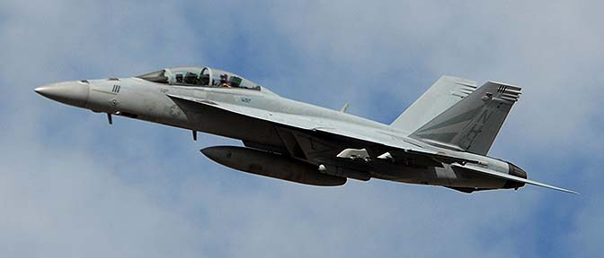 Boeing F/A-18F Hornet from Lemoore Naval Air Station.
