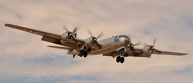 Boeing B-29 Superfortress N529B Fifi, Deer Valley, February 26, 2015