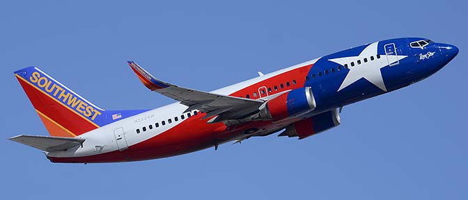 Southwest Boeing 737-3H4 N352SW Lone Star One, Phoenix Sky Harbor, March 6, 2015