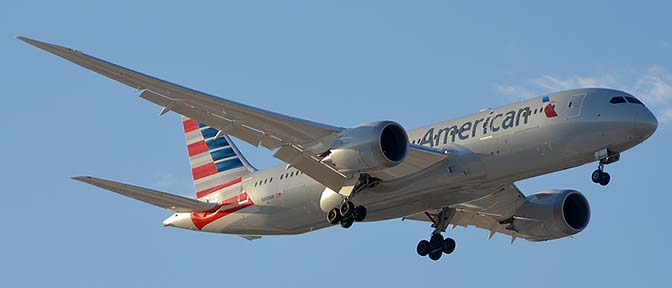 American Airlines' first Boeing 787-823 N800AN, Phoenix Sky Harbor, March 7 - 8, 2015