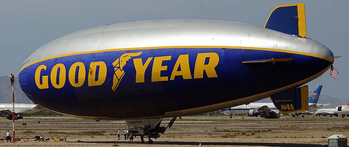 Goodyear Blimp at Goodyear, September 13, 2015