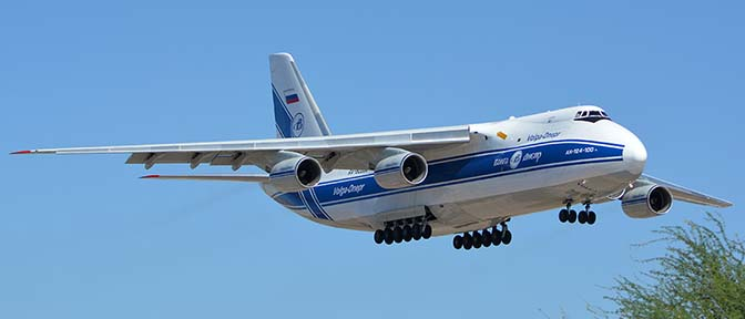Volga-Dnepr An-124 Ruslan RA-82068, Phoenix Sky Harbor Airport, Arizona, June 15, 2016